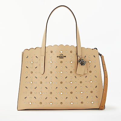 Coach Charlie Leather Carryall Tote Bag thumbnail