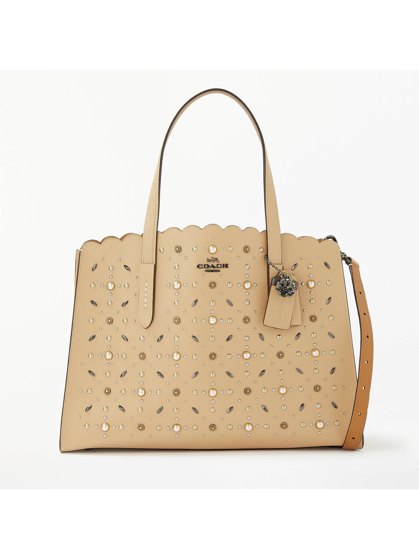 9692adce1c Buy Coach Charlie Leather Carryall Tote Bag, Beechwood Stud Online at  johnlewis.com ...