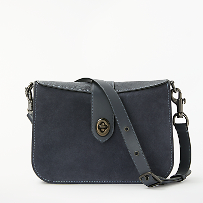 Coach Page 27 Leather Shoulder Bag, Midnight Navy thumbnail