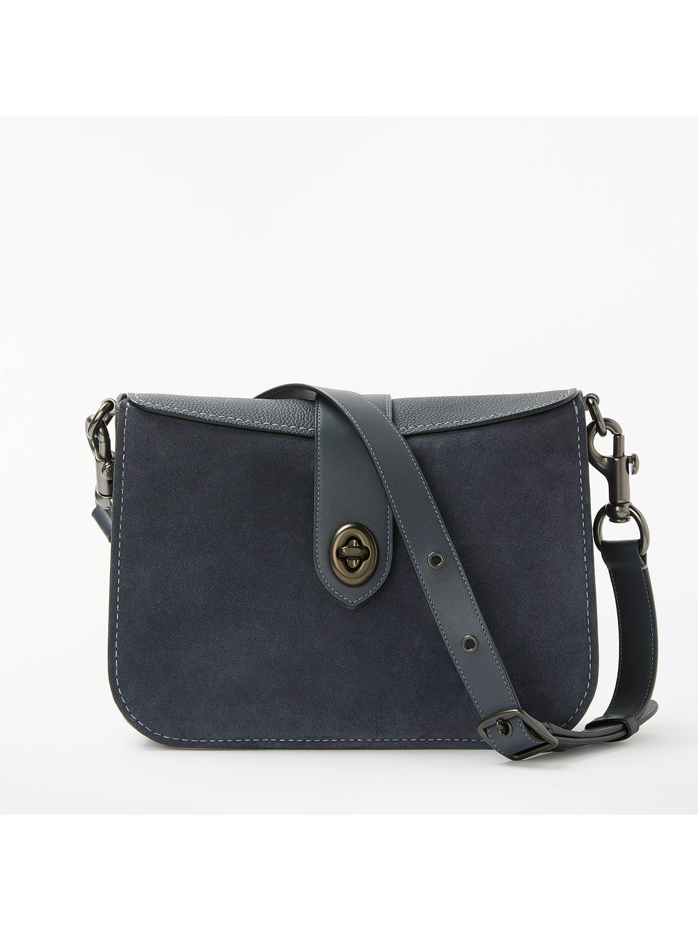 9fc1c76a3e ... sale buycoach page 27 leather shoulder bag midnight navy online at  johnlewis 8a92f 2f67b