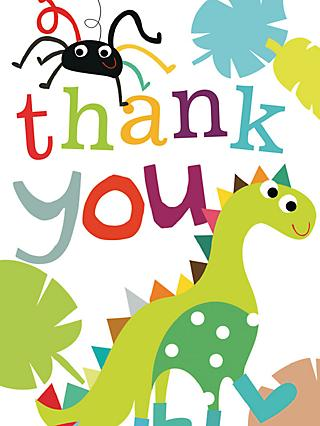 Caroline Gardner Dinosaur Thank You Cards, Pack of 10