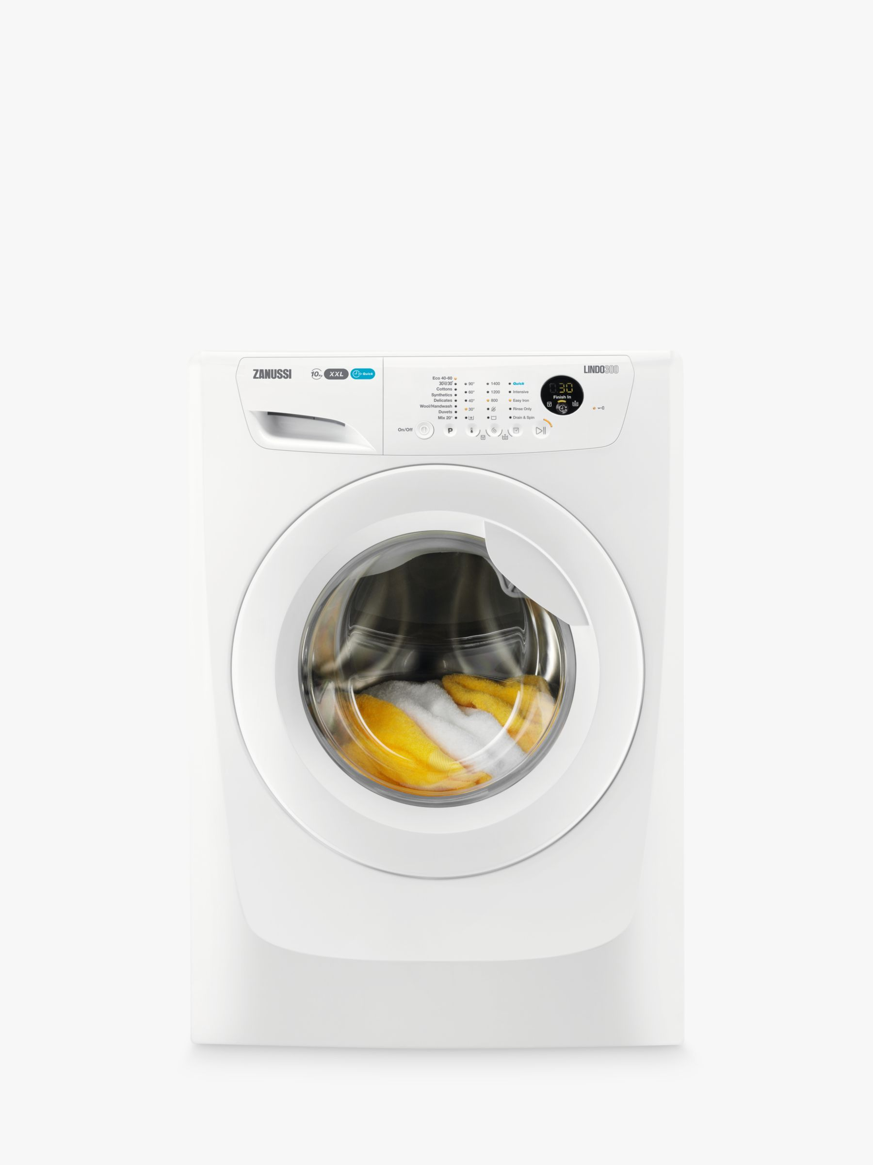Zanussi Zanussi ZWF01483W Washing Machine, 10kg Load, A+++ Energy Rating, 1400rpm Spin, White
