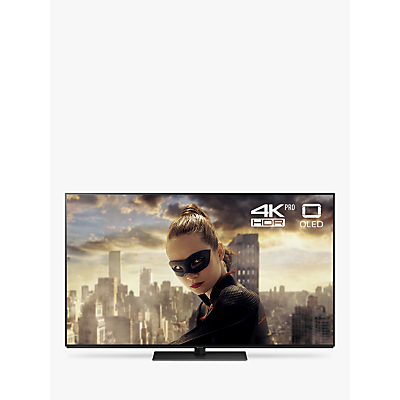 Image of Panasonic TX-55FZ802B OLED HDR 4K Ultra HD Smart TV, 55 with Freeview Play/Freesat HD, Ultra HD Premium Certified, Black