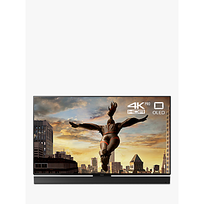 Panasonic TX-65FZ952B OLED HDR 4K Ultra HD Smart TV, 65 with Freeview Play/Freesat HD & Dynamic Blade Speaker Sound Bar Stand, Ultra HD Premium Certified, Black