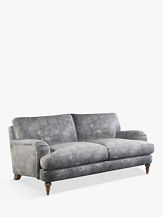 John Lewis & Partners Otley Large 3 Seater Sofa, Light Leg, Victoria Gunmetal