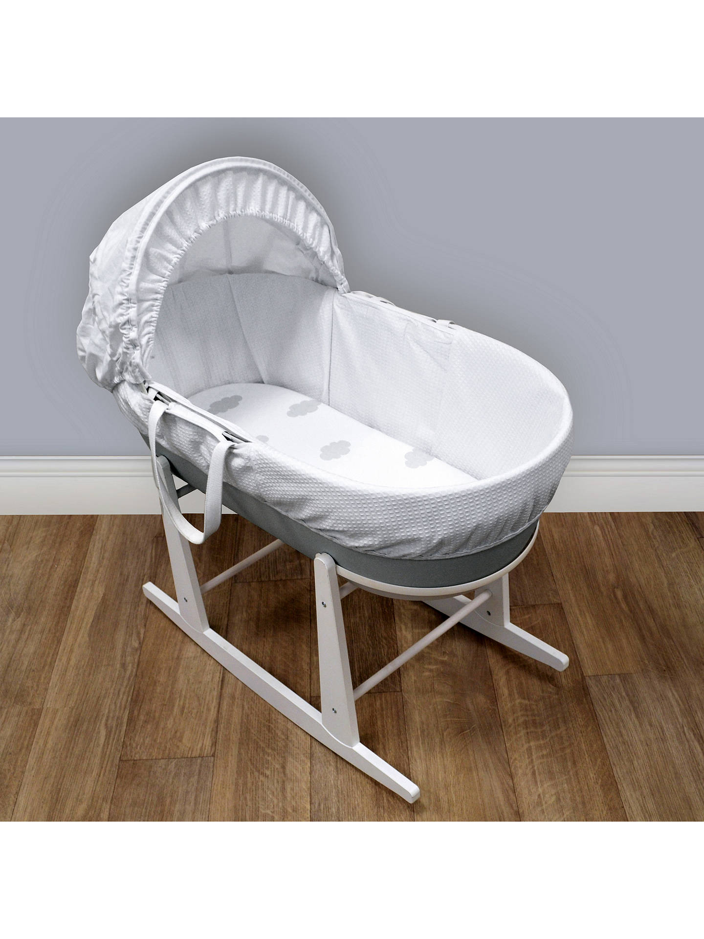 BuyShnuggle Cloud Fitted Moses Basket Cotton Sheets, Pack of 2 Online at johnlewis.com