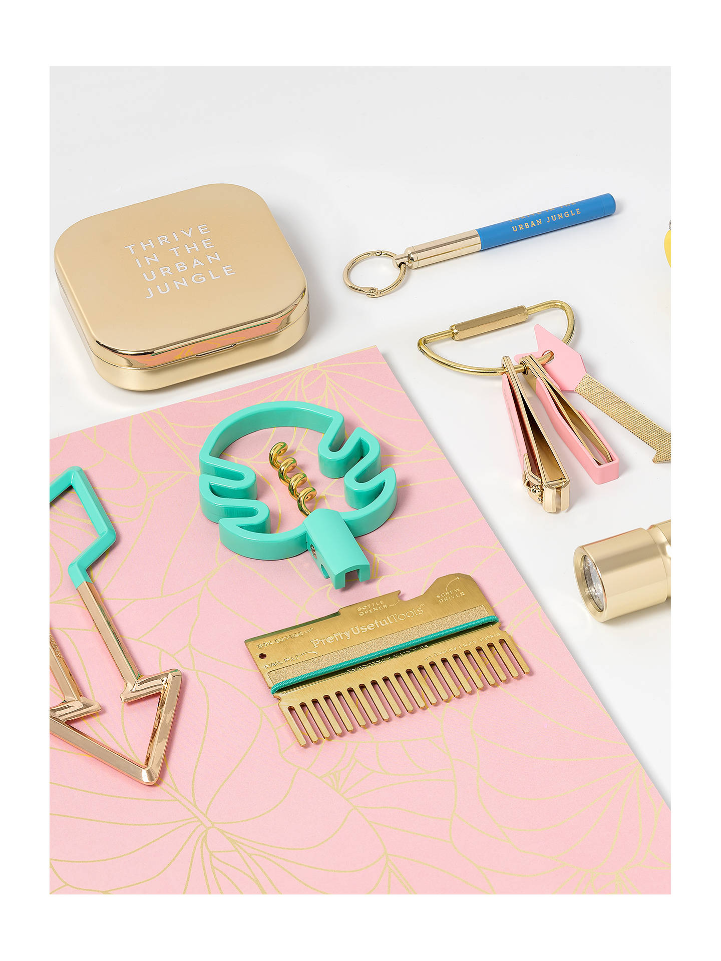 Buy Pretty Useful Tools Power Bank Mirror, Gold Online at johnlewis.com