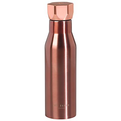 Ted Baker Hexagon Water Bottle, Rose Gold