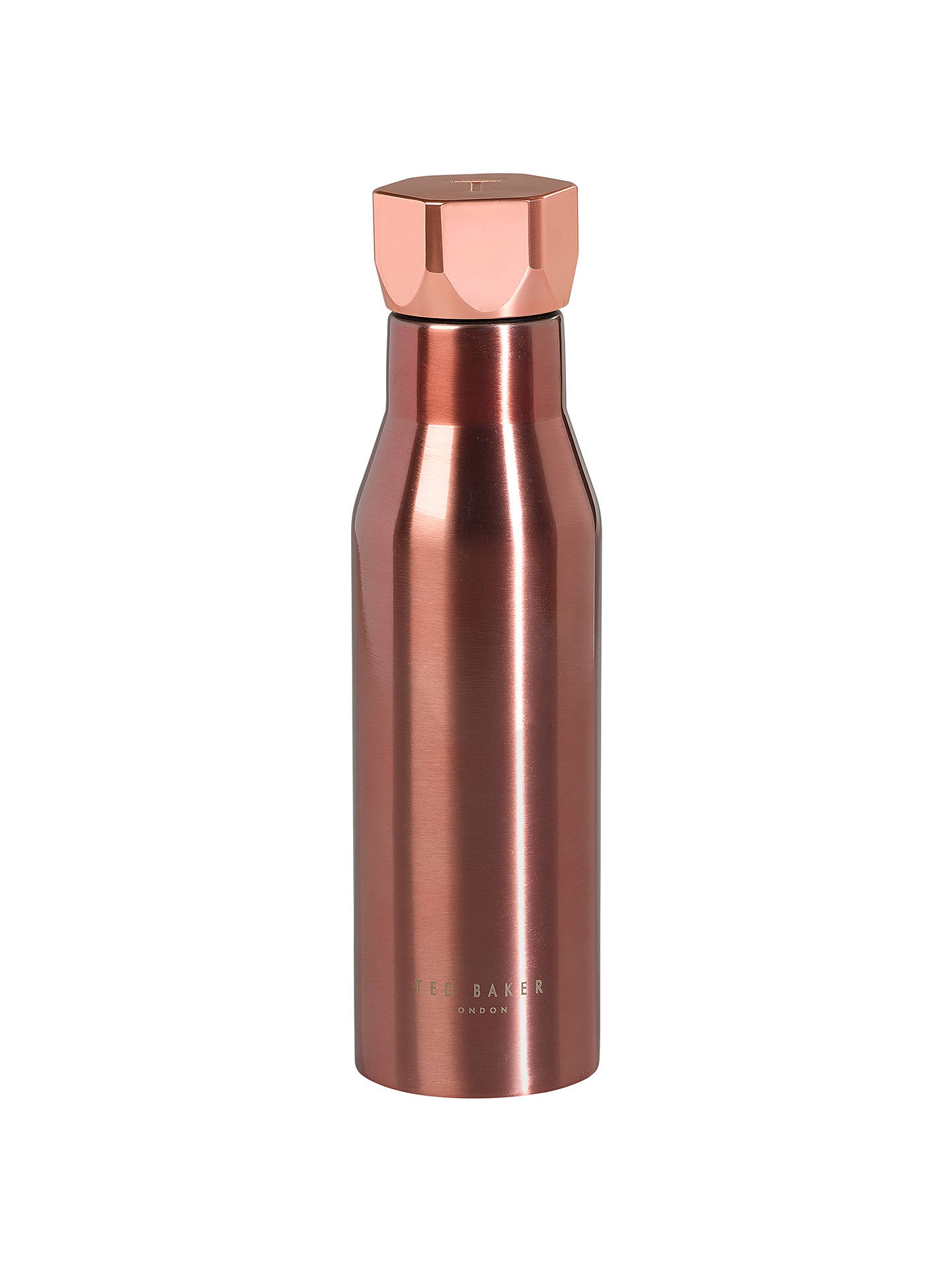 BuyTed Baker Hexagon Water Bottle, Rose Gold Online at johnlewis.com