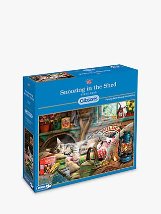 Gibsons Snoozing In The Shed Jigsaw Puzzle, 1000 Pieces