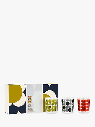 Orla Kiely Midnight Flower Scented Candles Gift Set
