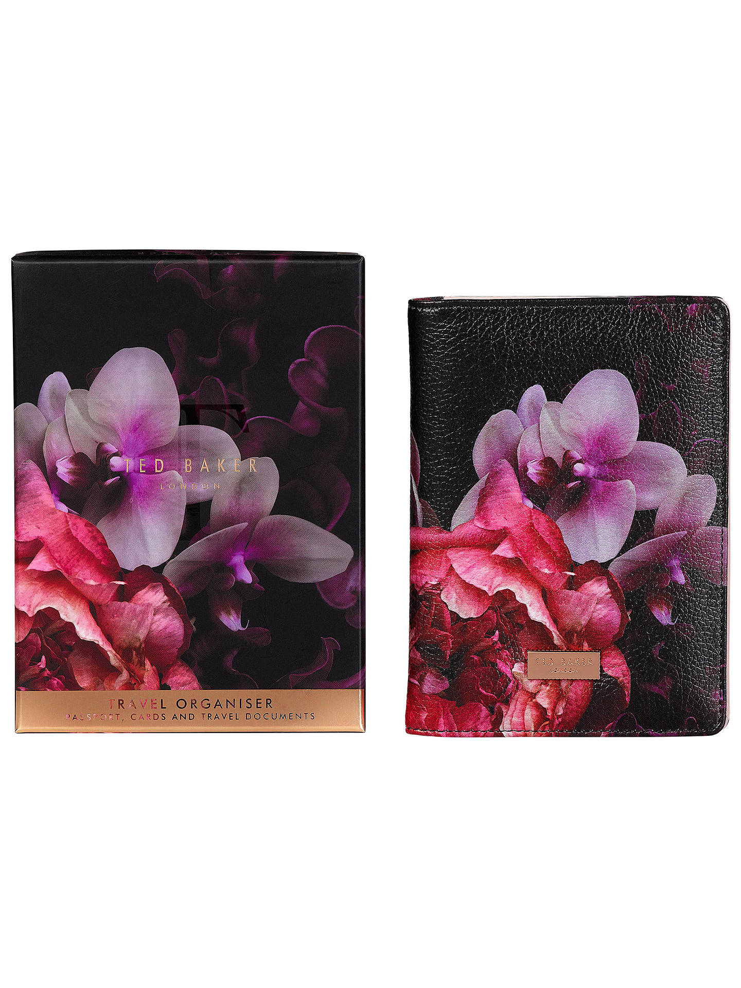 BuyTed Baker Splendour Travel Document Wallet, Black Online at johnlewis.com