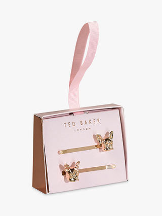 Buy Ted Baker French Bulldog Hair Clips, Pink Online at johnlewis.com