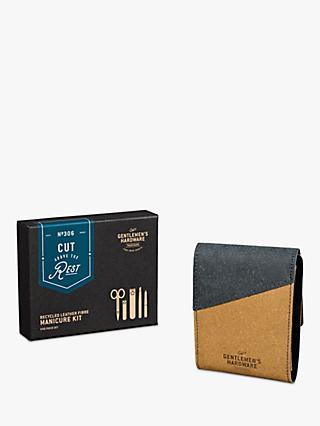Gentlemen's Hardware Recycled Leather Manicure Kit in Leather Case