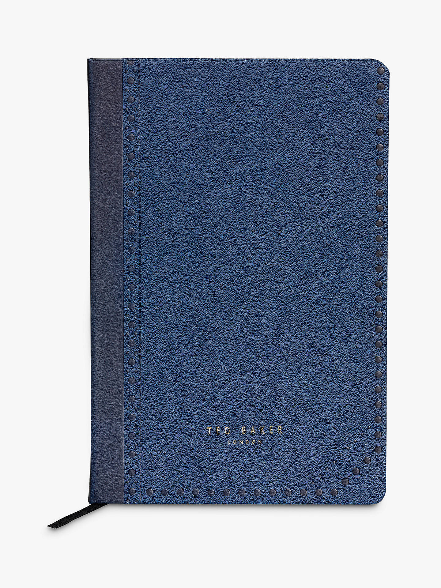 BuyTed Baker A5 Brogue Notebook, Cadet Blue Online at johnlewis.com