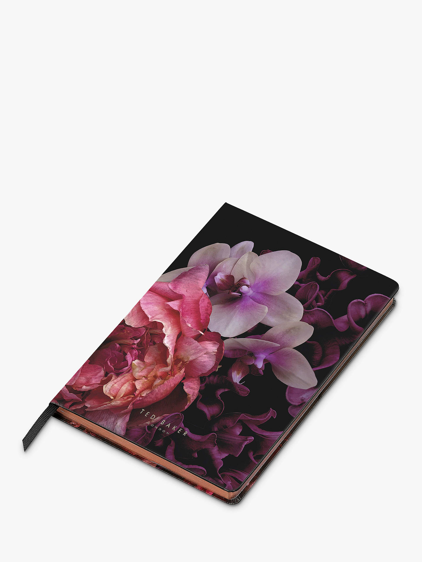 BuyTed Baker Splendour A5 Notebook, Black Online at johnlewis.com