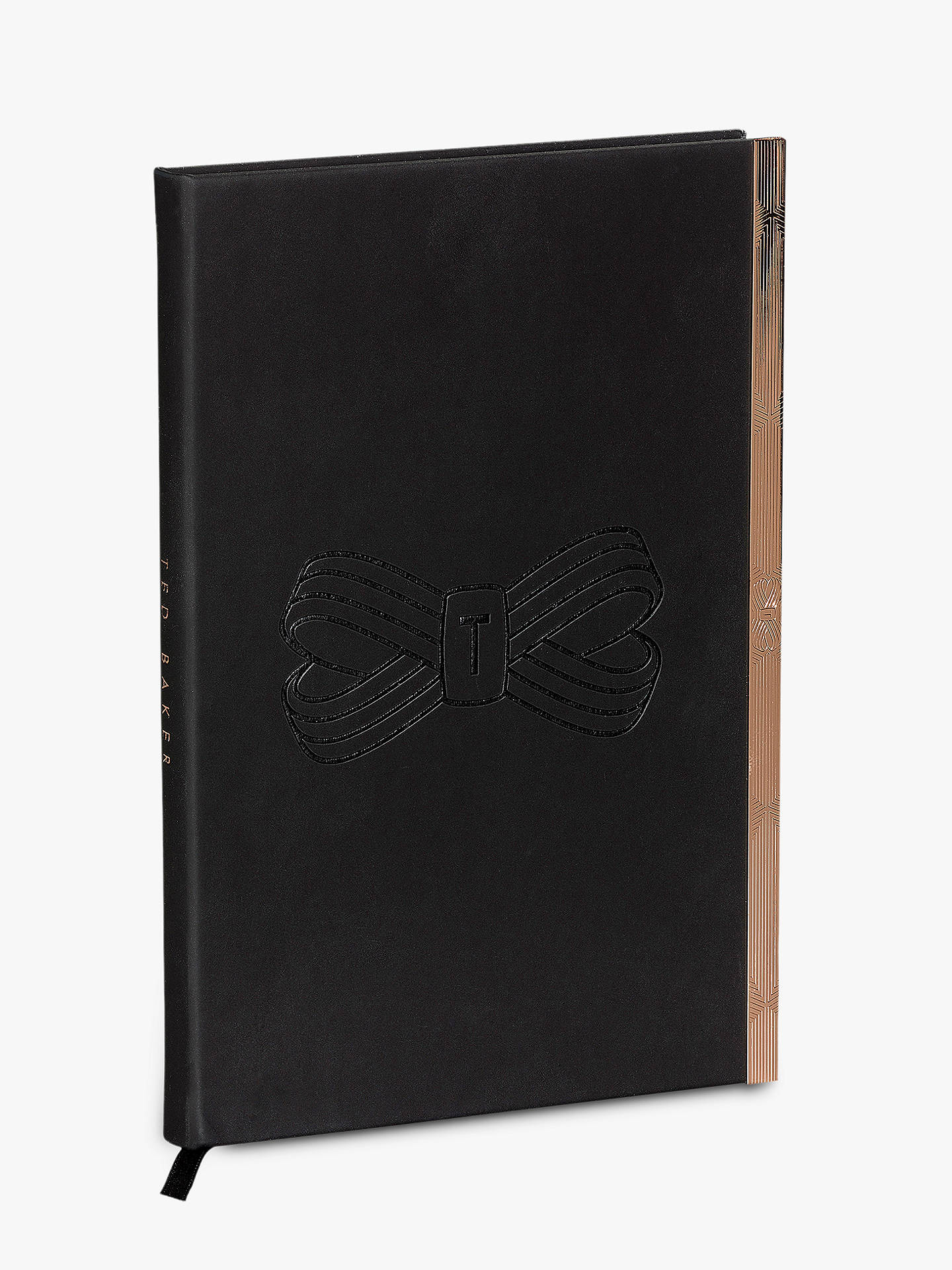 BuyTed Baker Soft Bow A5 Notebook, Black Online at johnlewis.com