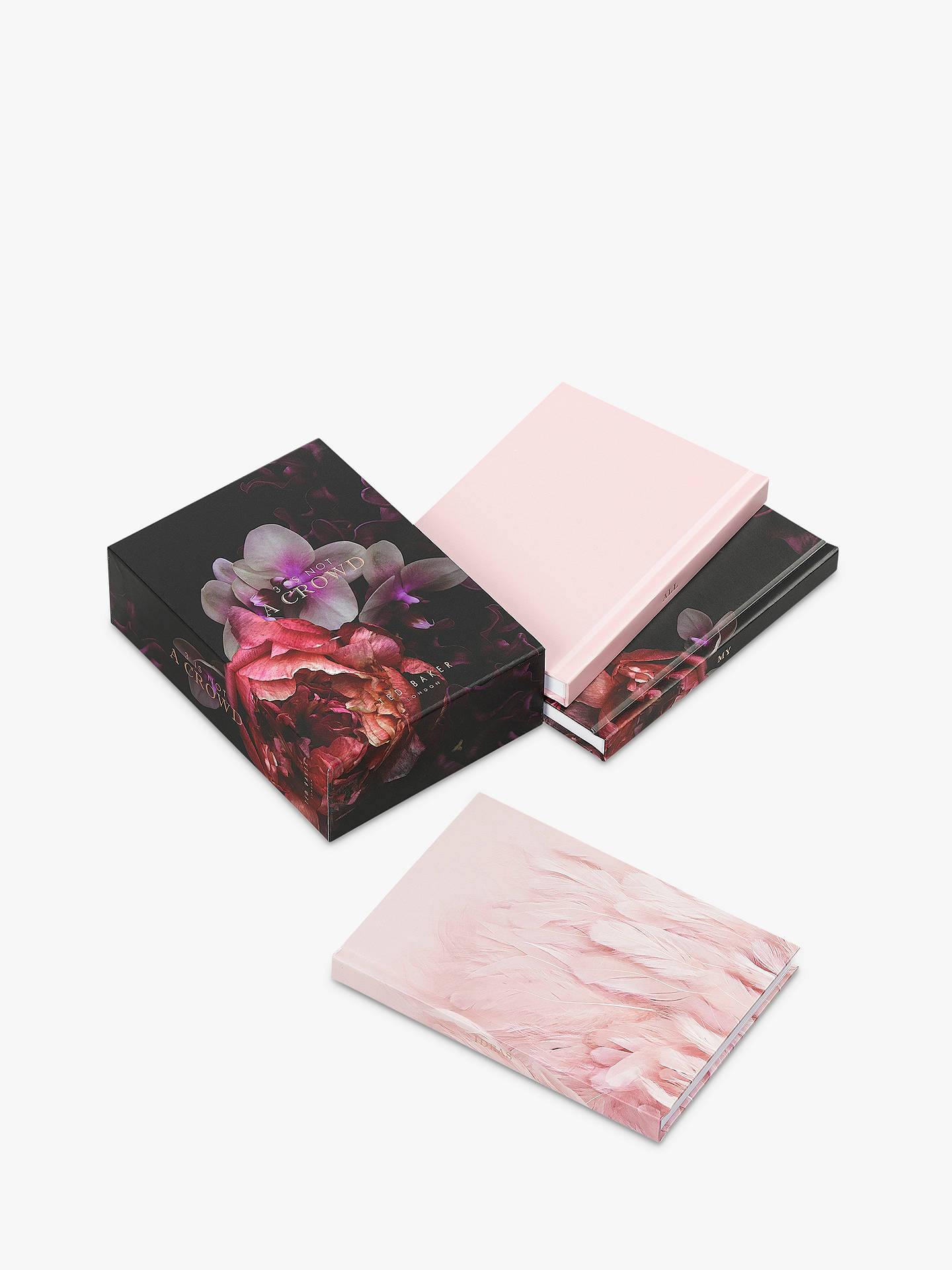 Buy Ted Baker Three's Not a Crowd Notebooks, Pack of 3 Online at johnlewis.com
