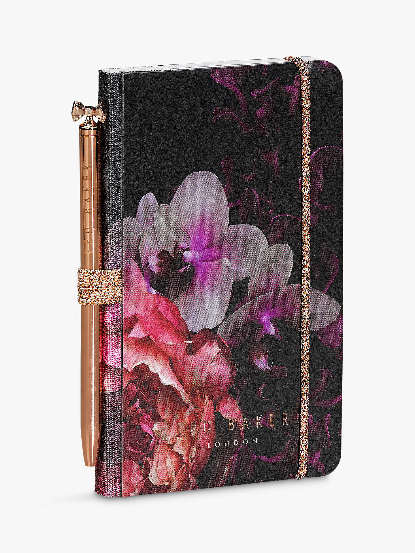BuyTed Baker Splendour Mini Notebook & Pen, Black Online at johnlewis.com