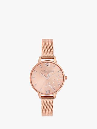 e8b76241b720 Olivia Burton OB16GD12 Women s Celestial Mesh Bracelet Strap Watch