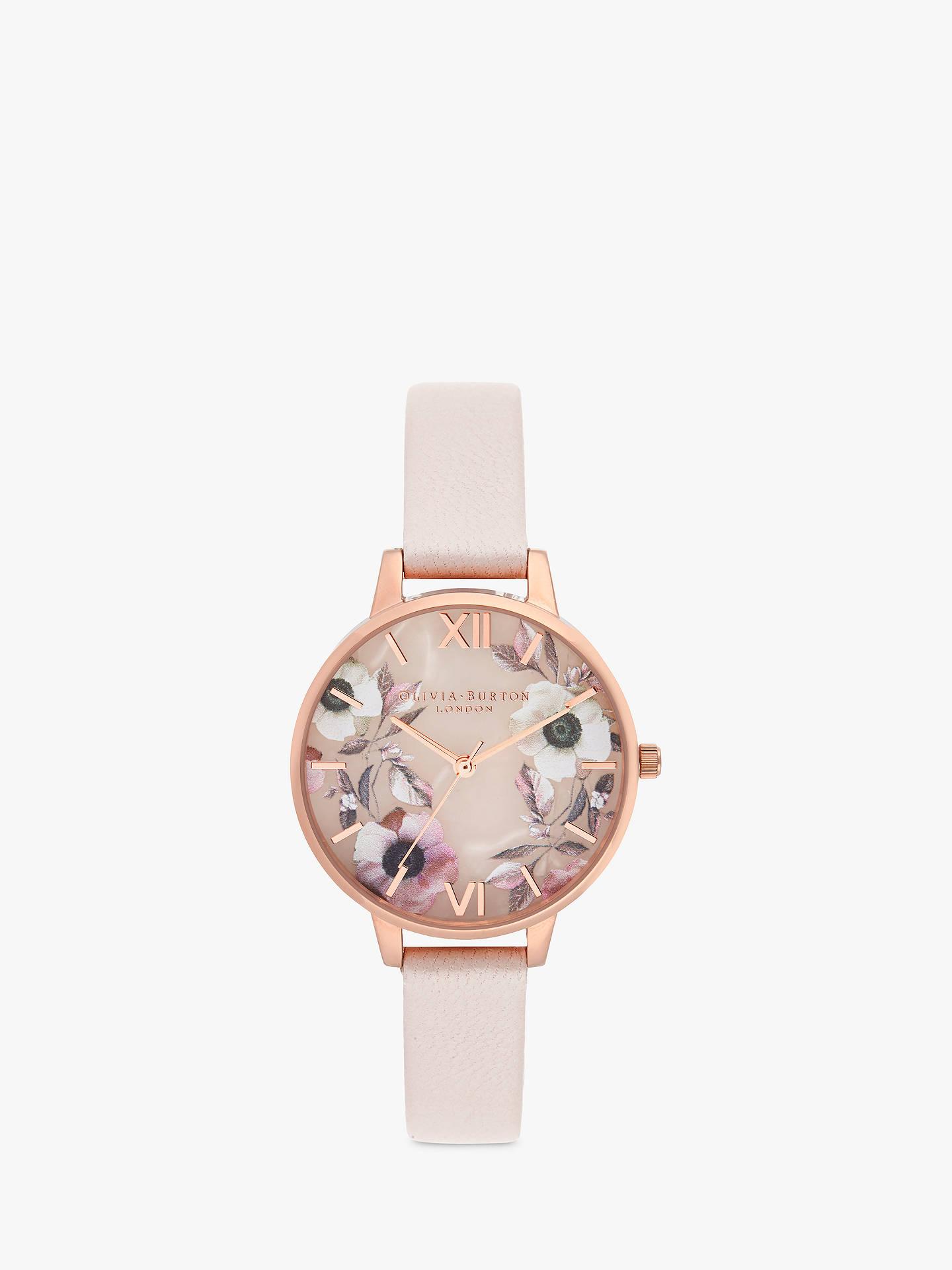 b5f02cfc6bf59 Buy Olivia Burton OB16SP14 Women s Semi Precious Leather Strap Round Watch