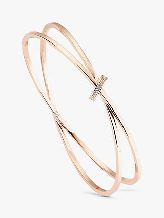 Karen Millen Swarovski Crystal Interlinked Double Slim Bangle