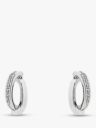 Karen Millen Swarovski Crystal Pave Stud Earrings