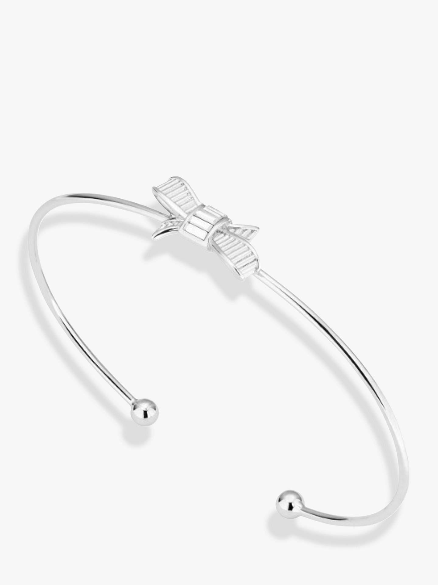 Buy Ted Baker Decimaa Bow Fine Cuff, Silver Online at johnlewis.com