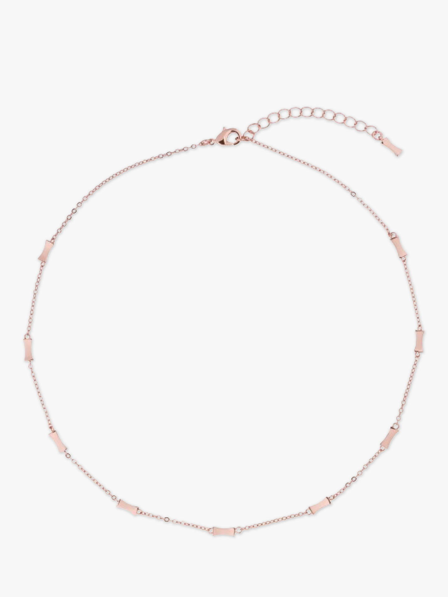 Buy Ted Baker FAYE Mini Faceted Bow Collar Necklace, Rose Gold Online at johnlewis.com