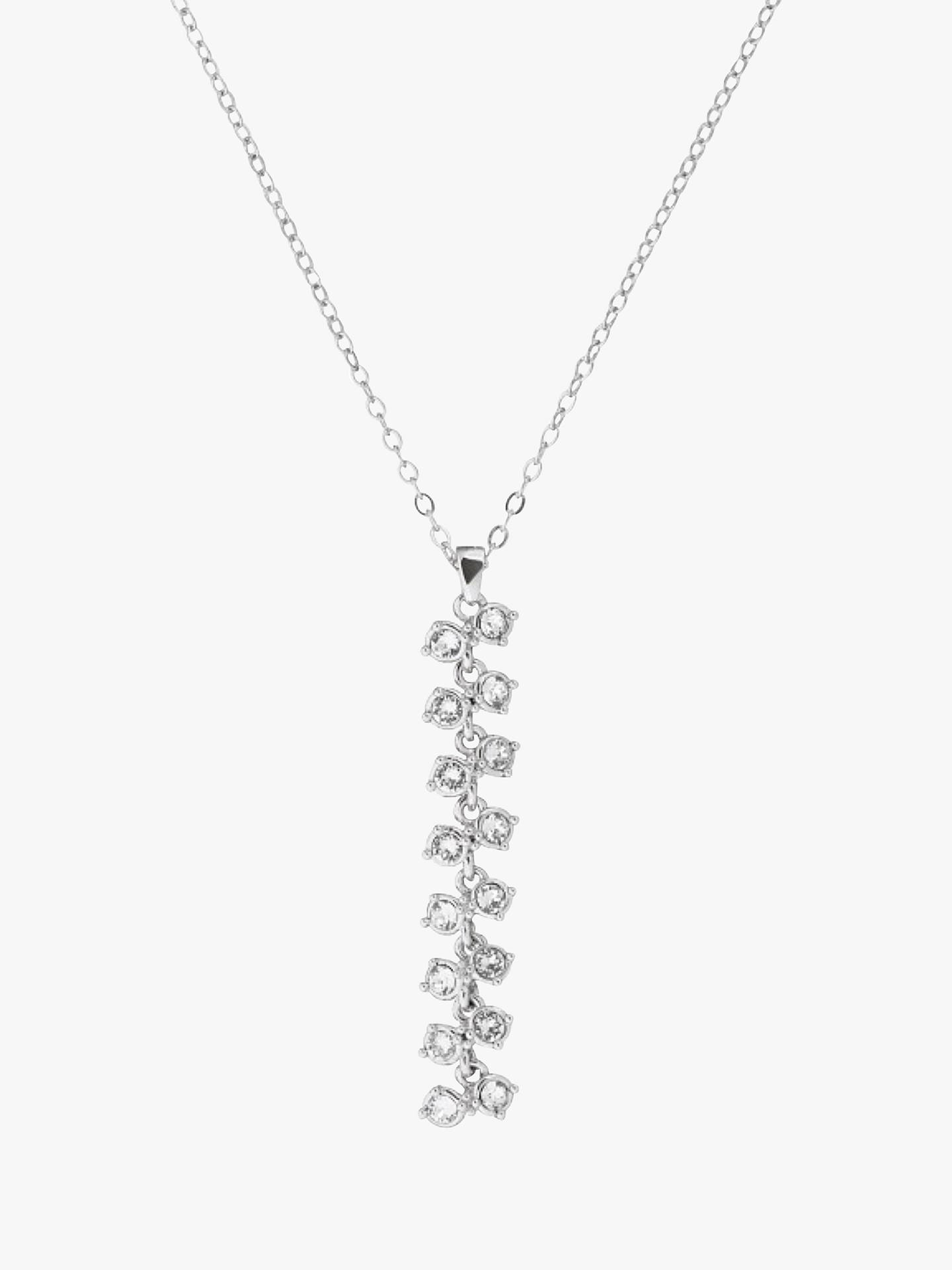 BuyTed Baker Eirra Princess Sparkle Pendant Necklace, Silver Online at johnlewis.com