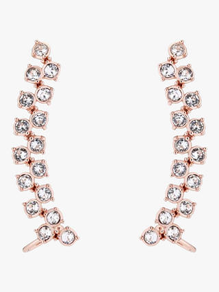 Buy Ted Baker Princess Sparkle Swarovski Crystal Cuff Earrings, Rose Gold Online at johnlewis.com
