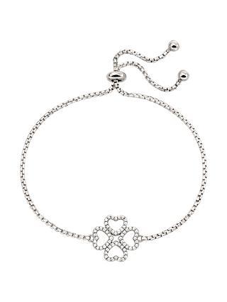 2591c6185bd Folli Follie Heart Leaf Clover Box Chain Bracelet