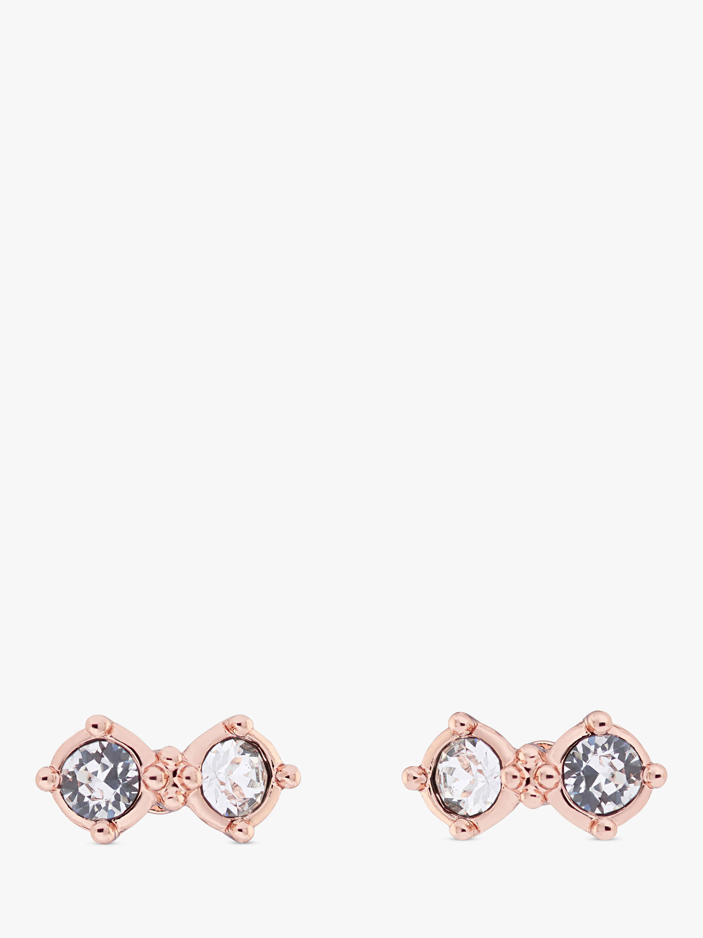 3c8bd85162a8f Ted Baker Eliora Princess Sparkle Stud Earrings, Rose Gold
