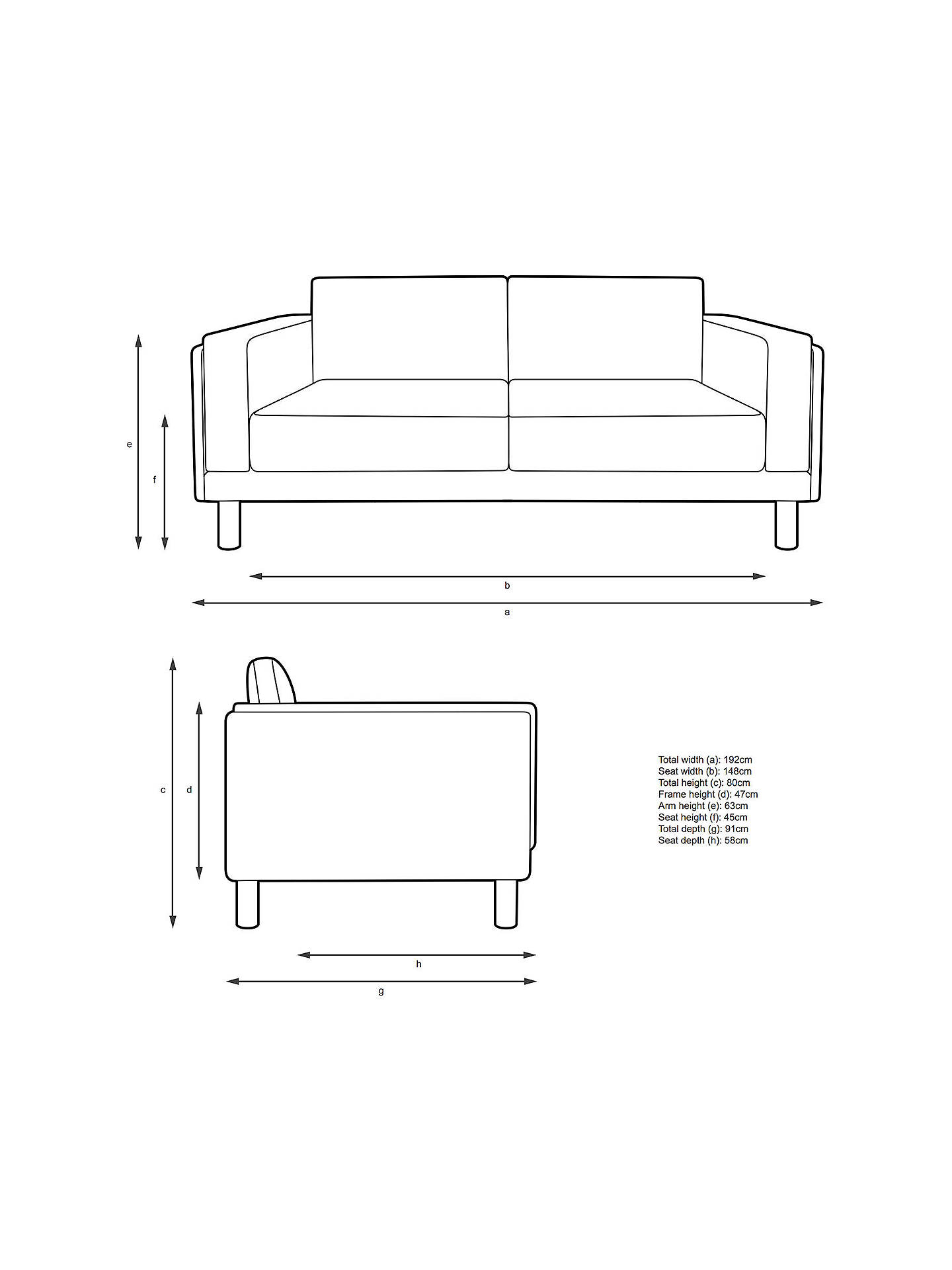 Buy Design Project by John Lewis No.002 Large 3 Seater Sofa, Arya Blue Grey Online at johnlewis.com