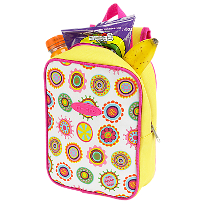 Micro Scooters Doodle Dot Lunch Bag, Pink/Yellow
