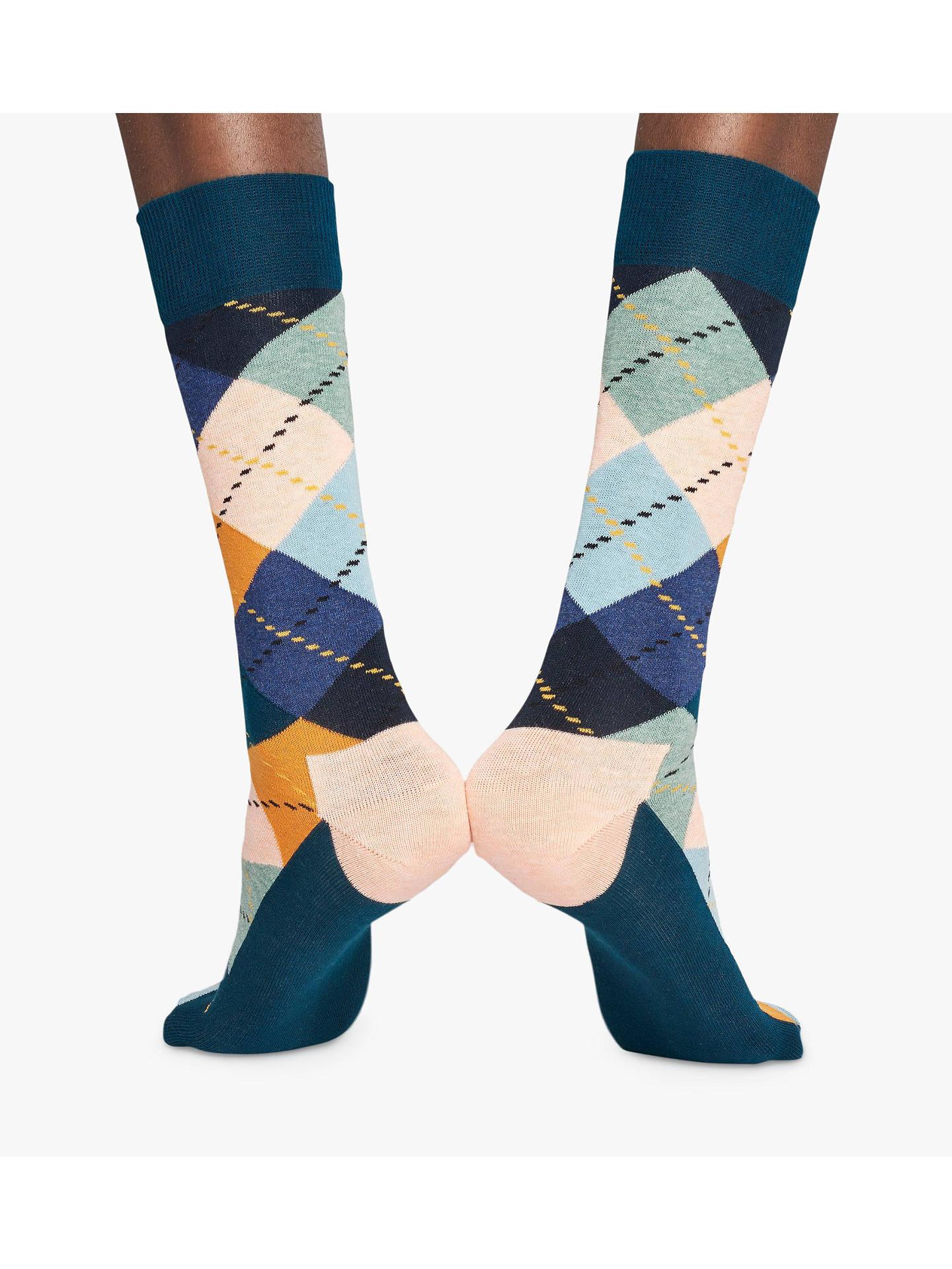 fadc0022e4e61 Buy Happy Socks Argyle Socks, One Size, Pastel/Multi Online at johnlewis.
