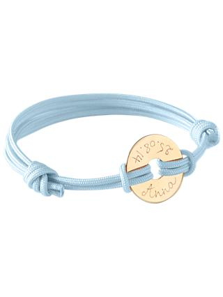 Merci Maman Personalised Mini Open Disc Bracelet