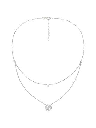 Folli Follie Cubic Zirconia Layered Pendant Necklace