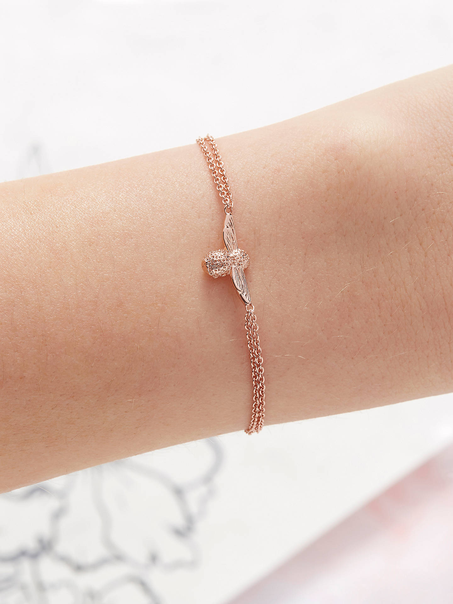 Buy Olivia Burton 3D Bee Chain Bracelet, Rose Gold OBJ16AMB43 Online at johnlewis.com