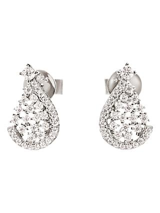 Folli Follie Sparkle Teardrop Stud Earrings