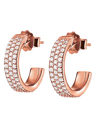Folli Follie Cubic Zirconia Small Hoop Earrings