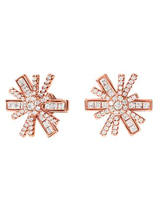 Folli Follie Cubic Zirconia Star Stud Earrings