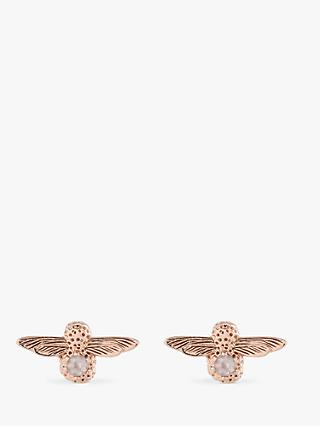 Olivia Burton Bee Stud Earrings, Rose Gold OBJ16AME26