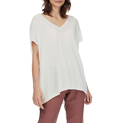 Brora Cotton Oversize T-Shirt, One Size, White