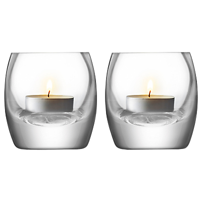 LSA International Glass Tealight Holder Gift Set, Set of 2
