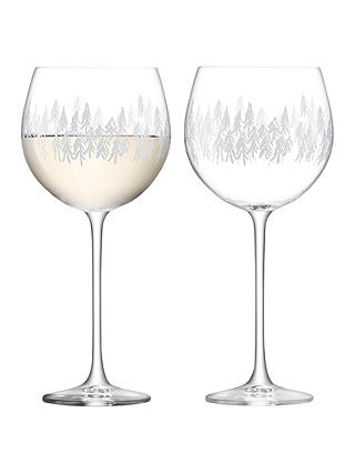 Buy LSA International Fir Tree Balloon Glass, Clear, 525ml, Set of 2 Online at johnlewis.com