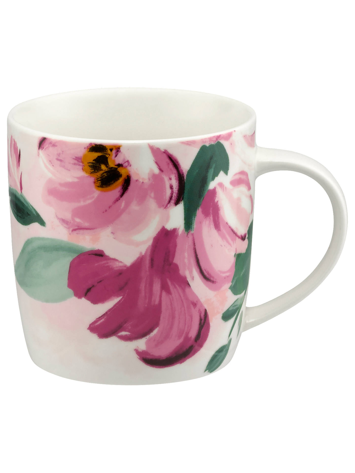BuyCath Kidston Audrey Paintbox Flowers Mug, 350ml, Light Pink Online at johnlewis.com