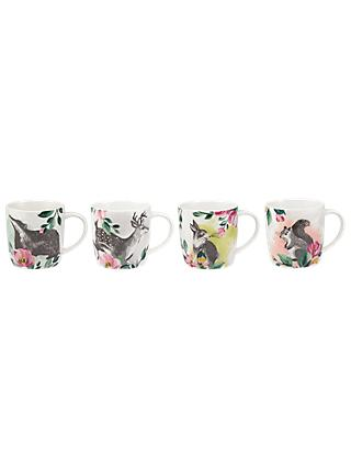 Cath Kidston Audrey Mug, Badger and Friends, Set of 4