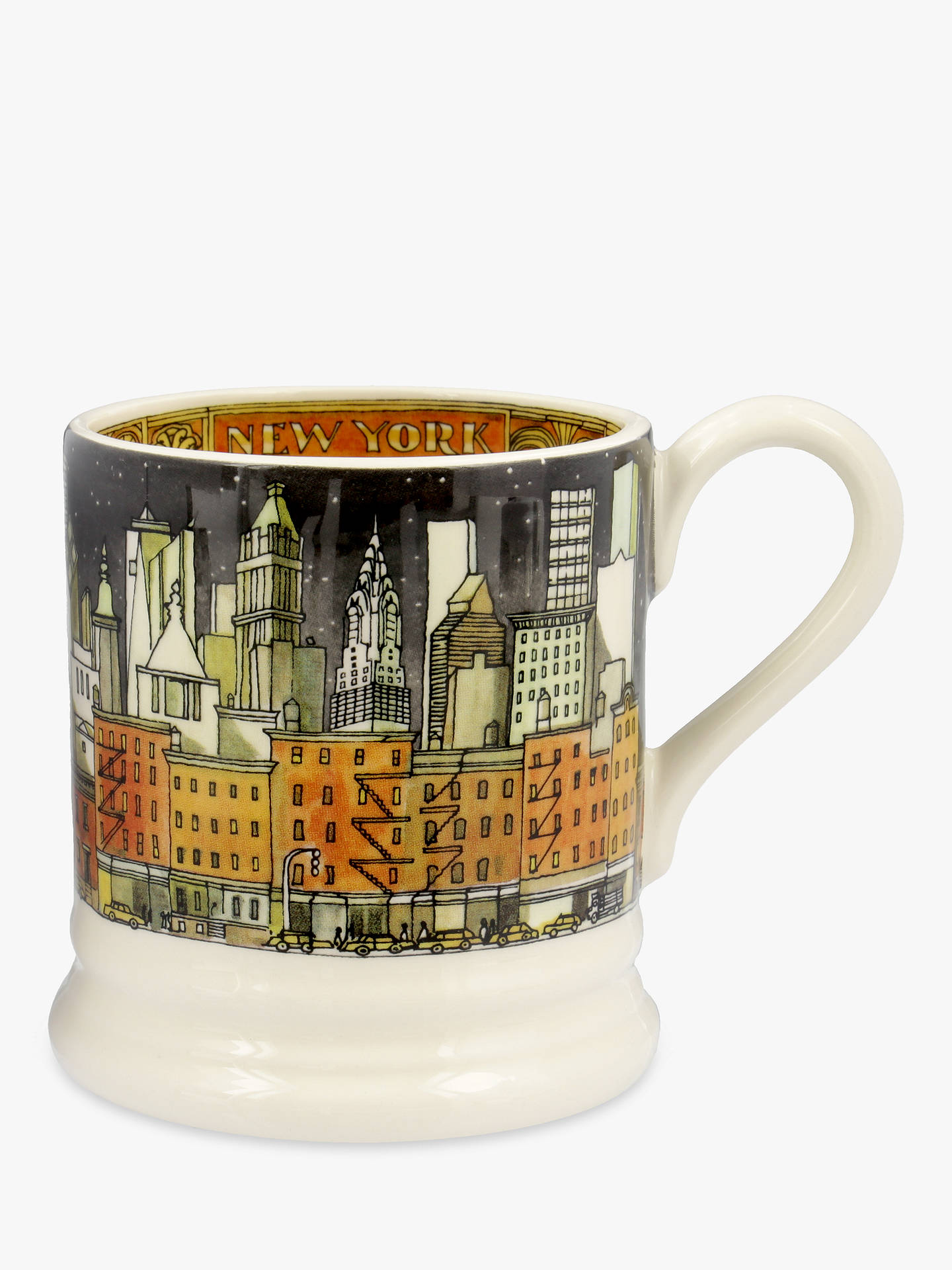 4de162eb043 Emma Bridgewater New York Half Pint Mug, 284ml, White/Multi