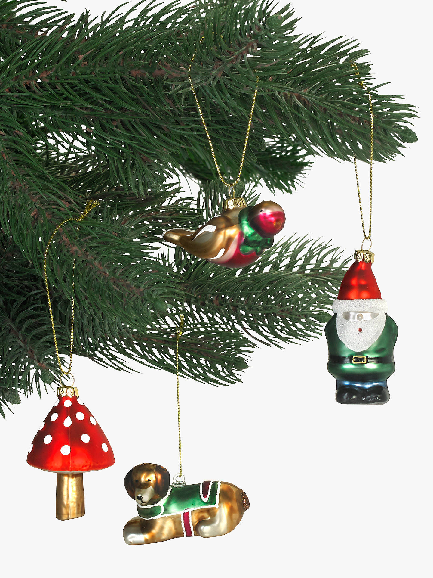 John Lewis Christmas Decorations.Cath Kidston Blown Glass Christmas Tree Decorations Set Of 4